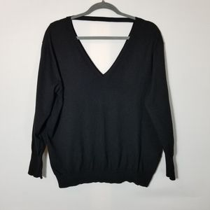 Large black Wilfred long sleeve sweater